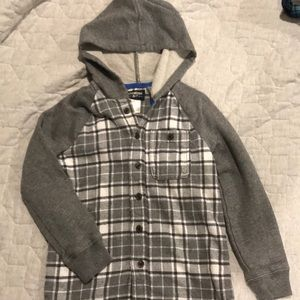 NWOT Size 5 Oshkosh Button Down Flannel Hoodie